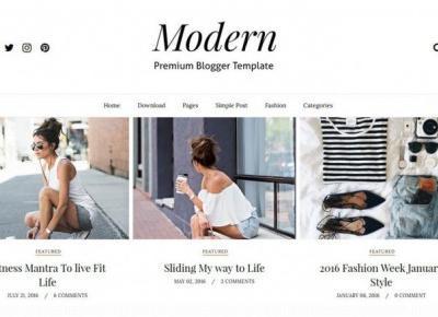 Modern Blogger Template Premium - Za darmo – Centrum Blogera