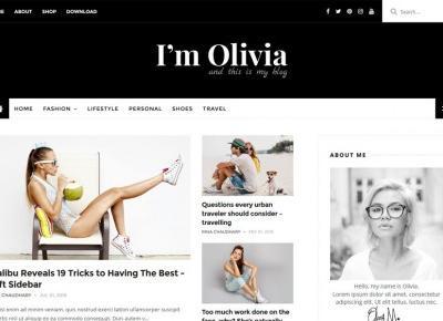 Olivia Responsive Blogger Template - Darmowy Szablon – Centrum Blogera