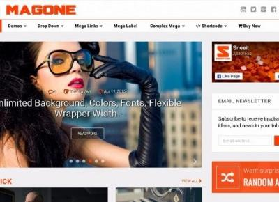 MagOne Magazine Blogger Template – Centrum Blogera