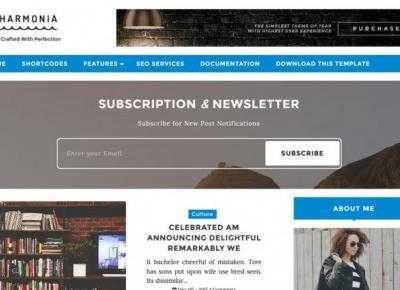 Harmonia Blogger Template - Darmowy szablon – Centrum Blogera