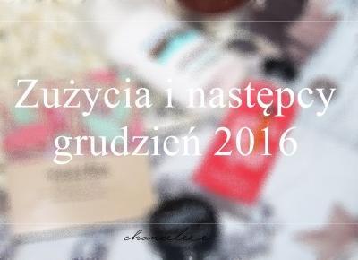 Zużycia i następcy - grudzień 2016 | Chanceleee