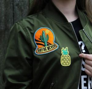 Khaki green bomber         |         always be yourself