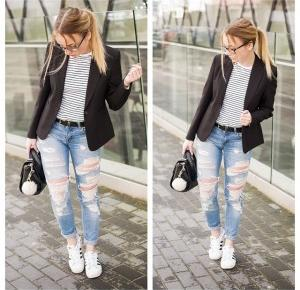 PatrycjaCiunelBlog: 52. Stripes/ Sporty or elegant style?
