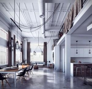 Mieszkanie w stylu postindustrialnym