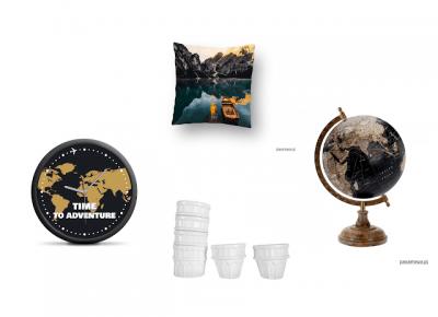 Czarna wisienka: Pomysły na prezent dla podróżnika. Potrzebne gadżety, mapy zdrapki i dekoracje