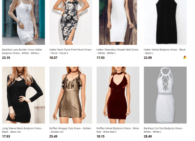 halter bodycon dress Haul - Czary-Marty