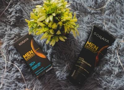 Soraya Men Energy - pasta oczyszczająca i Hydro-żel 30+ - Czary-Marty