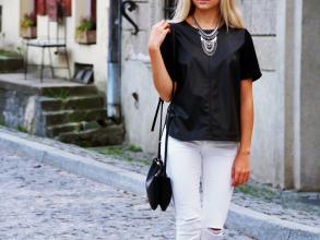 Dalena Daily: LEATHER T-SHIRT