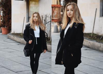 BLACK LOOK & ZAFUL SKIRT – DALENA DAILY