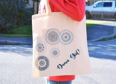 Damn, Girl!: DIY: Spersonalizowana boho torba.