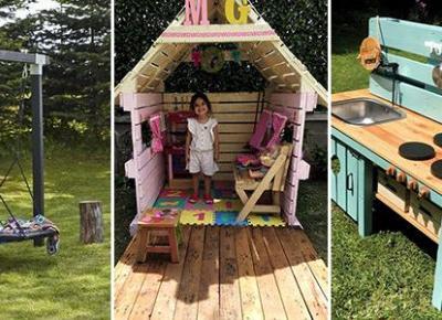 Ogrodowe DIY dla Dzieci - TOP 20 Ciekawych Pomysłów na Miejsce do Zabawy dla Dzieci w Ogrodzie