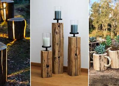 Ogrodowe Dekoracje z Drewna - TOP 20 Ciekawych Inspiracji Które Was Zachwycą!