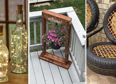 Ogrodowe DIY - TOP 21 Ciekawych Projektów DIY Do Twojego Ogrodu