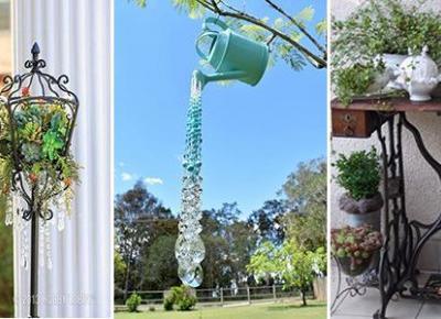 Recykling w Ogrodzie - DIY Dekoracje Ogrodowe ze Starych Rzeczy