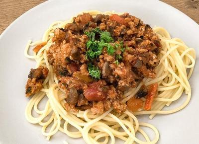 Spaghetti Bolognese z Pieczarkami