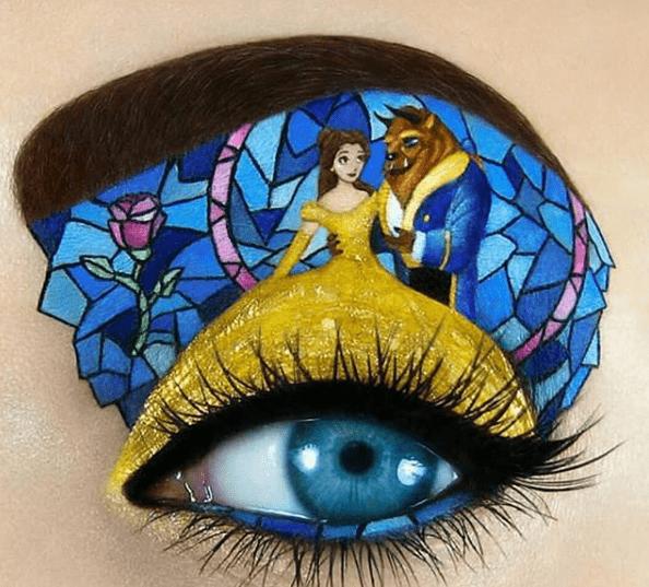 8 artystycznych rysunków na powiekach oczu