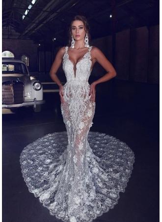 Luxus Brautkleider Meerjungfrau   Spitze Brautmoden Hochzeitskleider_Brautkleider Meerjungfrau_Brautkleider_Brautkleider,Abiballkleider,Abendkleider