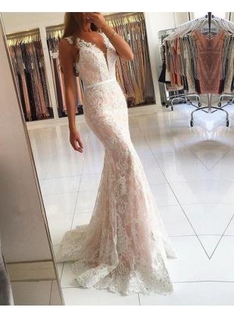 elegante weißes abendkleid lang günstig  spitze abendmoden onlineabendkleiderkleider für