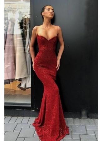 elegante rote abendkleider lang  abiballkleider mit glitzer günstigabendkleiderkleider für