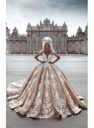 Luxus Brautkleider Prinzessin | Hochzeitskleider mit Spitze Online_A-Linie Brautkleider_Brautkleider_Brautkleider,Abiballkleider,Abendkleider