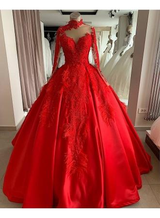 luxus abendkleider mit Ärmel  rote abendmoden abiballkleider onlineabendkleiderkleider für