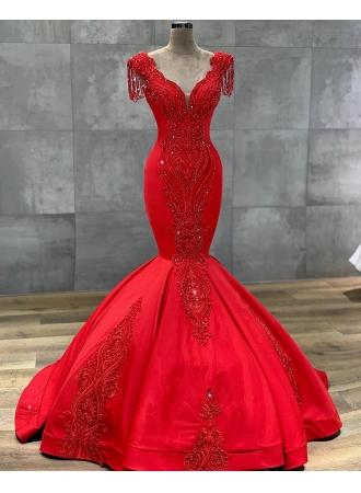 luxus rote abendkleider lang  abiballkleider bodenlang onlineabendkleiderkleider für