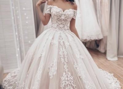 Luxus Brautkleider Prinzessin | Spitze Hochzeitskleider Online Kaufen_Brautkleider 2019_Brautkleider_Brautkleider,Abiballkleider,Abendkleider