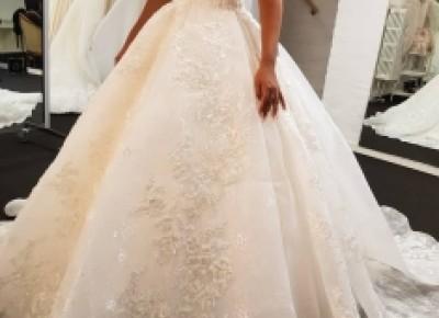 Elegante Brautkleider Weiße | Spitzen Brautkleid A Linie Günstig_A-Linie Brautkleider_Brautkleider_Brautkleider,Abiballkleider,Abendkleider