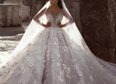Luxus Brautkleider Mit Ärmel A Linie Spitze Hochzeitskleider Kristal_A-Linie Brautkleider_Brautkleider_Brautkleider,Abiballkleider,Abendkleider