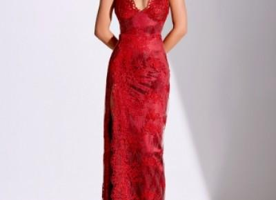 Fashion Abendkleider Lang Rot | Spitze Abendmoden Online_Abendkleider_Kleider für Besondere Anlässe_Brautkleider,Abiballkleider,Abendkleider