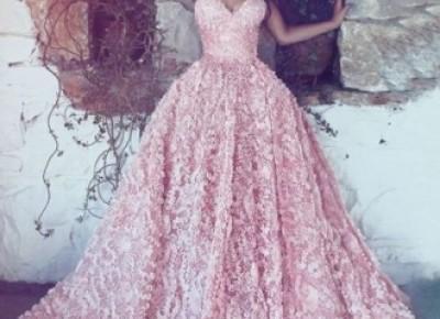 Luxus Abendkleider Lang Rosa | Spitze Abendmoden Online_Abendkleider_Kleider für Besondere Anlässe_Brautkleider,Abiballkleider,Abendkleider