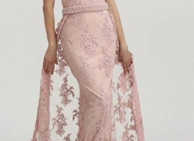 Rosa Abendkleider Lang Spitze | Abendmoden Abiballkleider Online_Abendkleider_Kleider für Besondere Anlässe_Brautkleider,Abiballkleider,Abendkleider