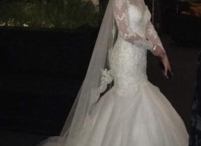 Hochzeitskleider Spitze und Schlicht | Brautkleider Meerjungfrau mit Ärmel_Brautkleider Meerjungfrau_Brautkleider_Brautkleider,Abiballkleider,Abendkleider