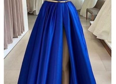 Fashion Abendkleider Lang Royal Blue | Schlichte Abendmoden Online_Abendkleider_Kleider für Besondere Anlässe_Brautkleider,Abiballkleider,Abendkleider