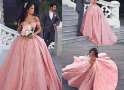 Luxus Abendkleider Lang Rosa | Prinzessin Abendmoden Online_Abendkleider_Kleider für Besondere Anlässe_Brautkleider,Abiballkleider,Abendkleider