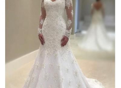 Fashion Brautkleider Mit Spitze A Linie | Hochzeitskleider mit Ärmel_Brautkleider Mit Ärmel_Brautkleider_Brautkleider,Abiballkleider,Abendkleider