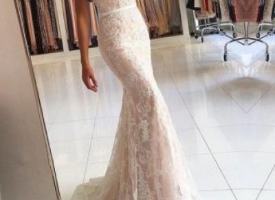 Elegante Weißes Abendkleid Lang Günstig | Spitze Abendmoden Online_Abendkleider_Kleider für Besondere Anlässe_Brautkleider,Abiballkleider,Abendkleider