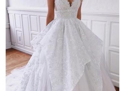 Elegante Brautkleider A Linie | Günstig Hochzeitskleider Mit Spitze_A-Linie Brautkleider_Brautkleider_Brautkleider,Abiballkleider,Abendkleider