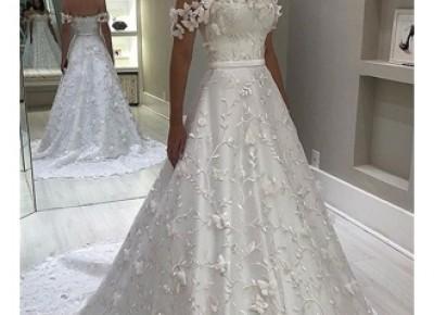Fashion Brautkleid A Linie | Hochzeitskleider mit Spitze Online_A-Linie Brautkleider_Brautkleider_Brautkleider,Abiballkleider,Abendkleider