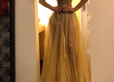 Abendkleid Gold | Spitze Abendkleider Lang Günstig_Abendkleider_Kleider für Besondere Anlässe_Brautkleider,Abiballkleider,Abendkleider