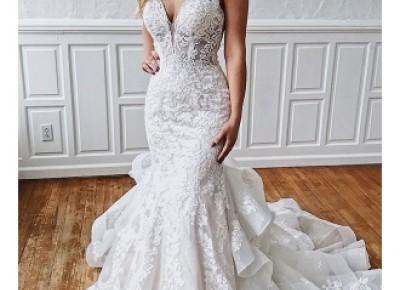 Romantic Brautkleider Mit Spitze | Weiße Hochzeitskleid Meerjungfrau Online_Brautkleider Meerjungfrau_Brautkleider_Brautkleider,Abiballkleider,Abendkleider