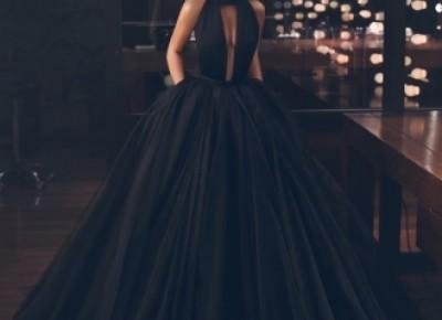 Fashion Schwarz Abendkleider Lang Günstig | Abendmoden Bodenlang Online_Abendkleider_Kleider für Besondere Anlässe_Brautkleider,Abiballkleider,Abendkleider