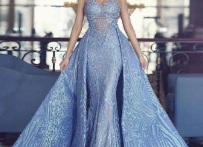 Luxury Blaues Abendkleid A Linie Spitze Abendkleider Günstig Online_Abendkleider_Kleider für Besondere Anlässe_Brautkleider,Abiballkleider,Abendkleider