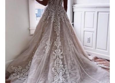 Elegante Hochzeitskleider Mit Spitze | Brautkleid A Linie_A-Linie Brautkleider_Brautkleider_Brautkleider,Abiballkleider,Abendkleider