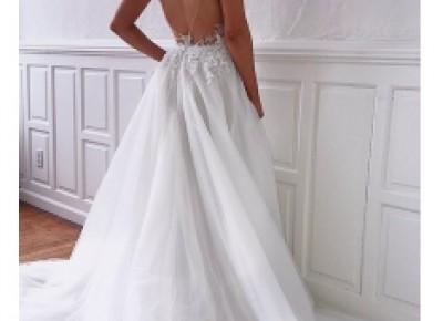Designer Brautkleider Mit Spitze | Hochzeitskleid A Linie Online_A-Linie Brautkleider_Brautkleider_Brautkleider,Abiballkleider,Abendkleider