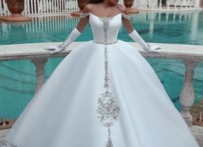 Weiße Brautkleid A Linie | Kristal Hochzeitskleider Günstig Online_A-Linie Brautkleider_Brautkleider_Brautkleider,Abiballkleider,Abendkleider