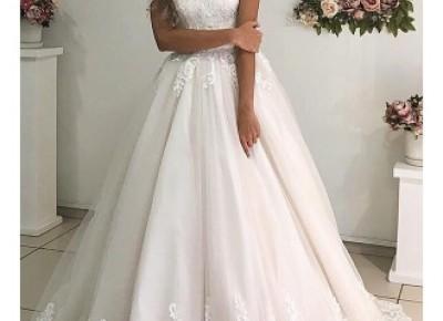 Elegante Brautkleider A Linie | Hochzeitskleider mit Spitze Online_A-Linie Brautkleider_Brautkleider_Brautkleider,Abiballkleider,Abendkleider