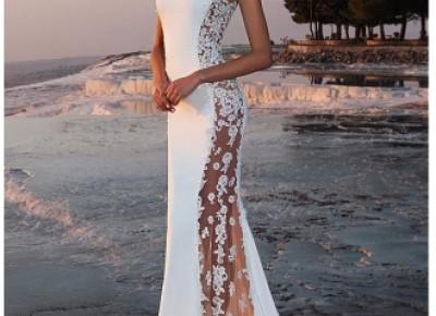 Weiße Abiballkleider Lang Günstig Spitze Abendkleider Abendmoden Online