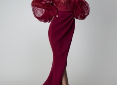 Elegante Abendkleider Rot Spitze | Abiballkleider Lang Mit Ärmel_Abendkleider_Kleider für Besondere Anlässe_Brautkleider,Abiballkleider,Abendkleider