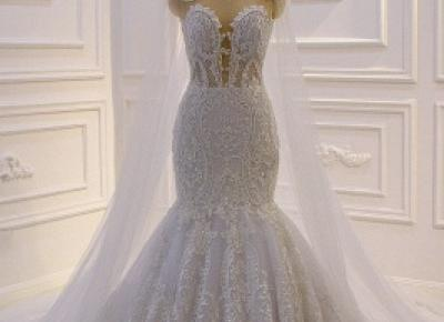 Designer Brautkleider meerjungfrau Spitze | Extravagante Hochzeitskleider | Babyonlinedress.de
